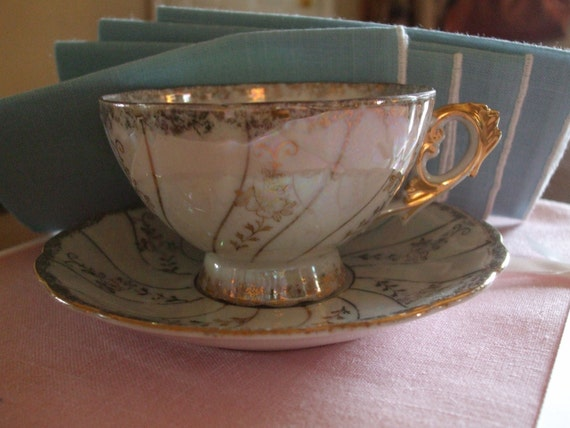 Vintage Tea Cup & Saucer - Marilyn-Exclusive Quality Preferred Consco Japan