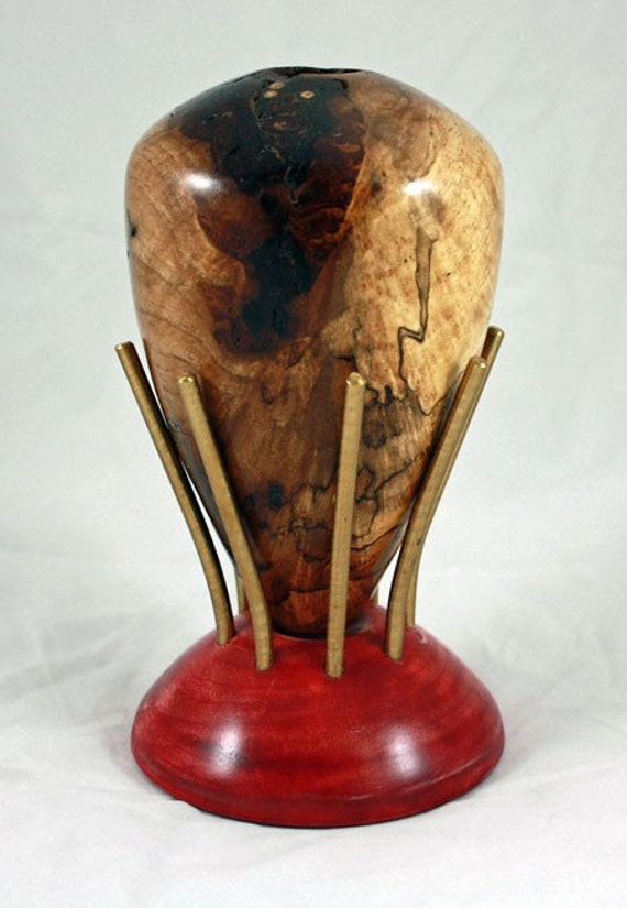 Spalted Pecan Vase (29-120)  (PRICE REDUCED)