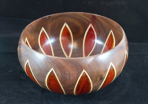 Walnut Inlay Bowl (29-287)
