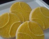 Tennis Ball Shortbread Cookies 1 Dozen