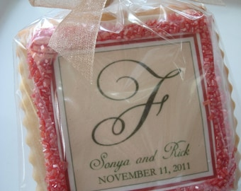 Edible Wedding Favor Shortbread Personalized Cookies