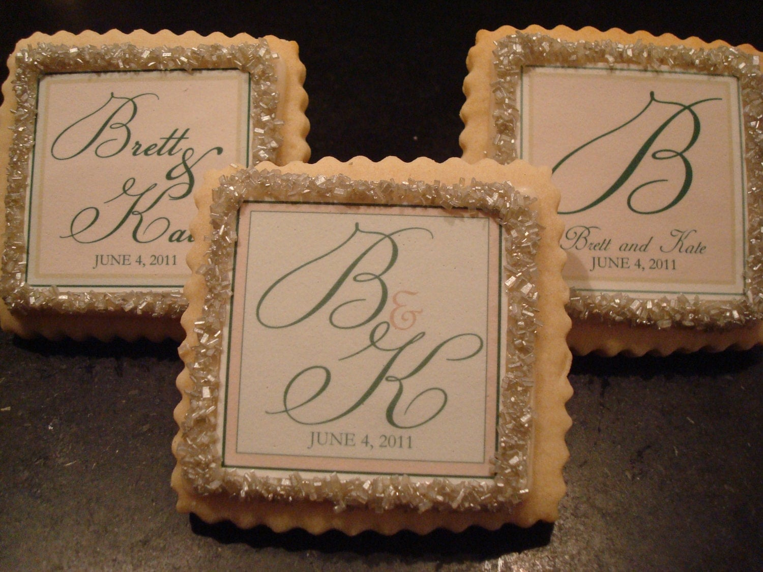 Wedding Favors Custom Shortbread Cookies