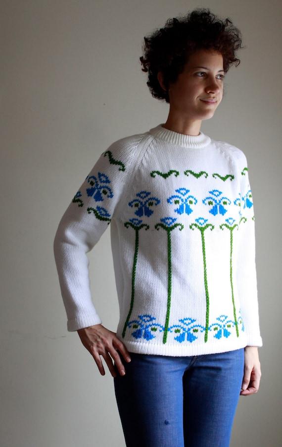 1960's nordic garden sweater