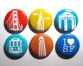 San Francisco Magnets OR Pins