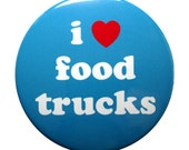 I Heart Food Trucks-3 inch Pinback Button