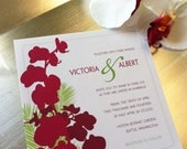 DIY Printable - Modern Blooms Wedding Invitation Suite - Orchid