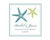Personalized Monogram - Starfish - Digital Wedding Logo