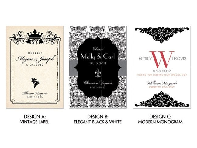 Items similar to customized wine labels printable for Avery wine label templates