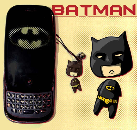 Batman phone charm