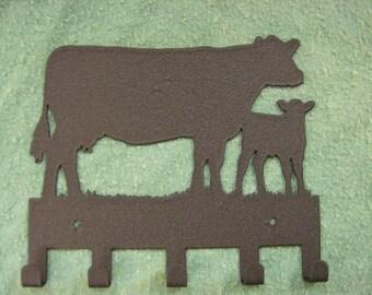 Cow / Calf Metal Key Holder