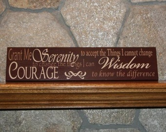 Serenity Prayer Painted Wooden Sign