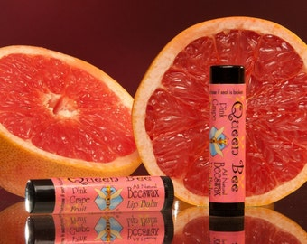pink grapefruit beeswax lip balm