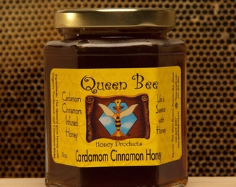 Cardamom cinnamon honey by Queen Bee Honey Products in Massachusetts