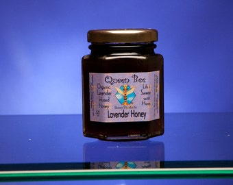 Lavender infused honey 5.5 oz.  by queen bee honey
