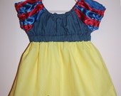 Snow White Inspired Princess Top/Dress - Baby, Toddler, Kids - Every Day Princess