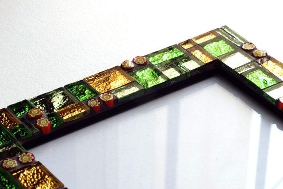 Sweet caramel - Mosaic photo frame 5x7in (13x18cm)