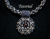 Tutorial Gunmetal necklace with pendant - Bead pattern