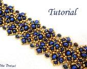 Tutorial Bracelet Perpetua - Instant Download, Beading pattern PDF