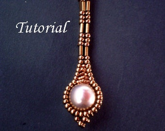 TUTORIAL Long Pearly Tila Earrings - Bead pattern
