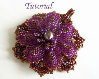 Tutorial Everlasting flower pendant - Beading pattern PDF