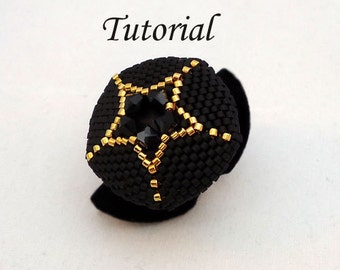 Tutorial Your Own Star Ring - Beading pattern pdf