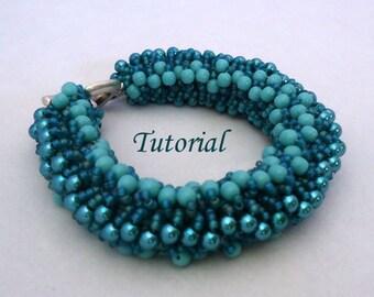 Tutorial True Blue Bracelet - Beading pattern PDF