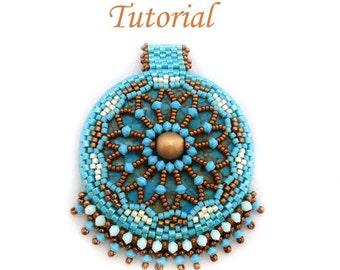 Tutorial Donut Mandala Pendant - Beading Pattern PDF
