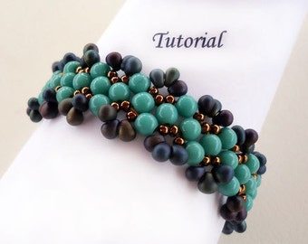 Tutorial Aruba Blue Bracelet - Bead pattern