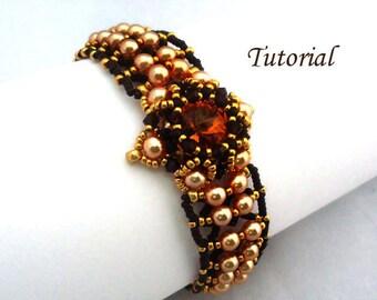 Tutorial Marigold Bracelet - Beading pattern PDF