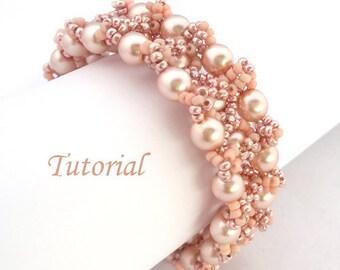 Pearl Blush Bracelet - Beading pattern PDF