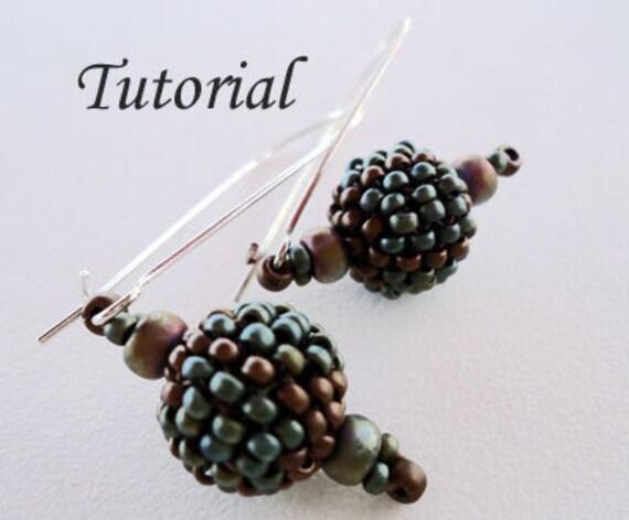 Beaded Bead Earrings III