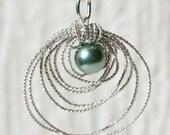 Turquoise Bead Birdnest Necklace