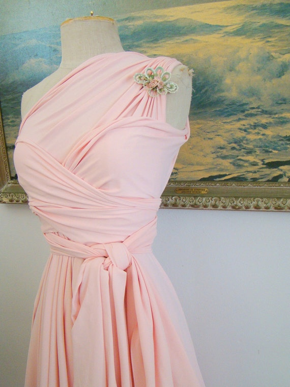 Starfish Blush Octopus Convertible Wrap Circle Skirt Dress