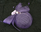 Purple vintage inspired fascinator