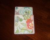 Porcelain Tile Coasters- Full Bloom, Set of 4