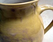 Pitcher, ceramic, stoneware, yellow