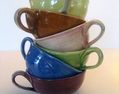 colorful teacups set of 6