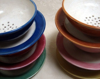 Handmade Berry bowls, wheel throw stoneware, pottery, clay ,six colors to choose from
