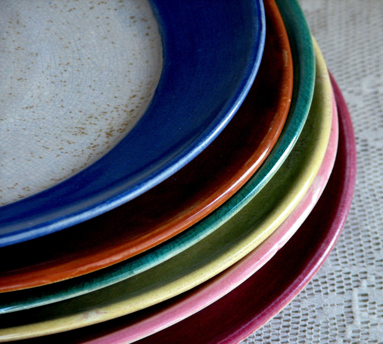 handmade stoneware dinner plates wheel thrown dinnerware sets