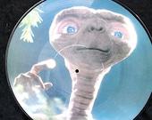 Vintage Record Album Picture Disk ET Soundtrack Movie 1980s