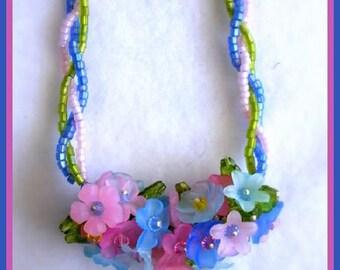 Spring Nosegay   Artisan Designed Beaded Necklace