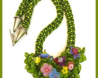 Peyote Floral Bouquet Designer Necklace Kit