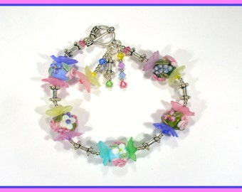 May Flower Lampwork Bracelet Kit