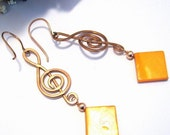 Free worldwide shipping - Time for Music Earrings