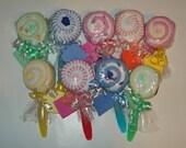Washcloth Lollipop Baby Shower Gift Favor