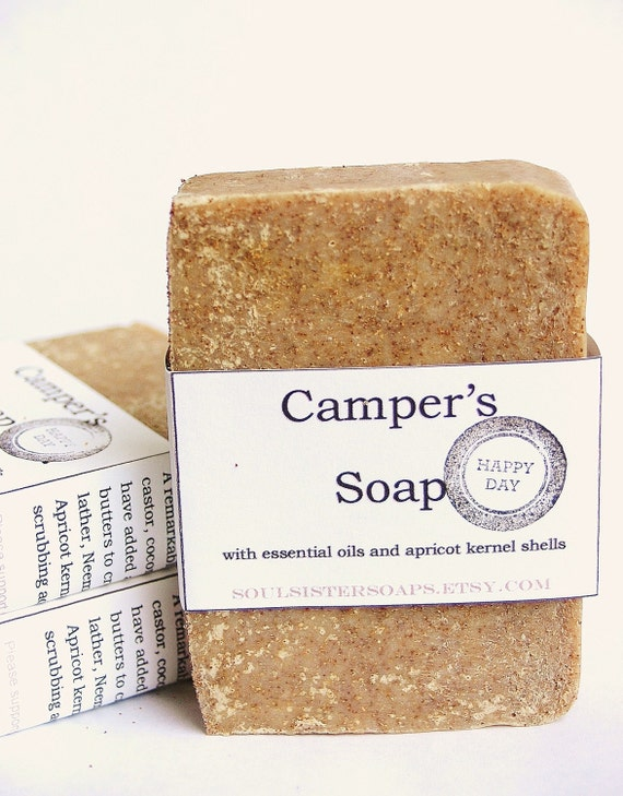 Biodegradable Campers Soap - Vegan - Bug Repellant - Scrub - Shea Butter