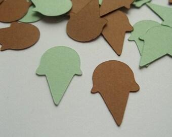 Chocolate Chip Mint Ice Cream Cone Confetti - 200 pieces