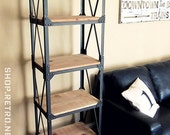 French Industrial Vintage Ironworker Bookshelf