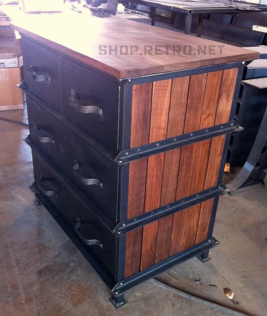 Vintage Industrial Ellis Dresser French By Vintageindustrial