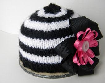 Newborn Girl Beanie Hat
